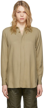 Ami Alexandre Mattiussi Tan Oversized Button Down Shirt