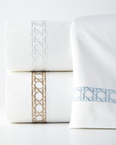 Sferra Twin 3-Piece Cane-Embroidered 400TC Sheet Set