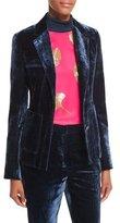 3.1 Phillip Lim Tailored Velvet Blazer, Sapphire