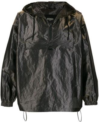 Fendi Pull-Out Hood Oversized Wind Breaker Jacket