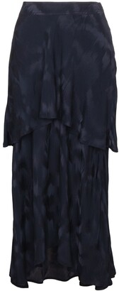 Sies Marjan Paris Layered Silk Blend Jacquard Skirt