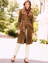 Talbots Suede Trench Coat