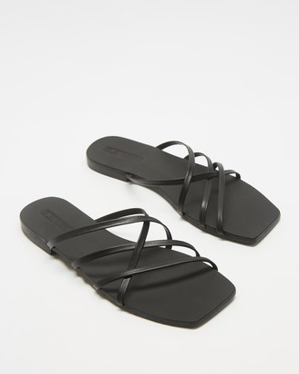 Sol Sana Women's Black Flat Sandals - Juniper Slides - Size 37 at The Iconic