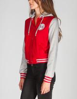 Full Tilt Womens Hooded Varsity Jacket