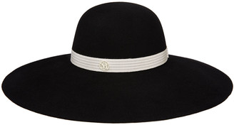 Maison Michel Blanche Rabbit Felt Wide Brim Hat
