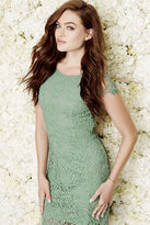 LuLu*s Hidden Talent Backless Sage Green Lace Dress