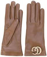 Gucci GG logo driving gloves