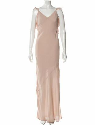 Reformation V-Neck Long Dress