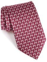Salvatore Ferragamo Men's Chicken & Egg Print Silk Tie