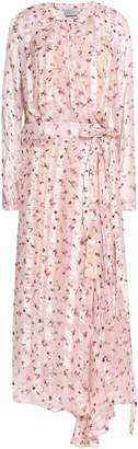 Preen by Thornton Bregazzi Asymmetric Floral-print Chiffon Midi Wrap Dress