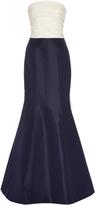 Carolina Herrera Two Part Strapless Column Gown