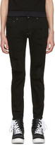 Diet Butcher Slim Skin Black Damaged Skinny Jeans