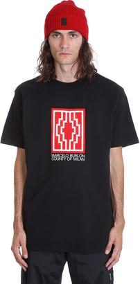 Marcelo Burlon County of Milan Rural Cross T-shirt In Black Cotton