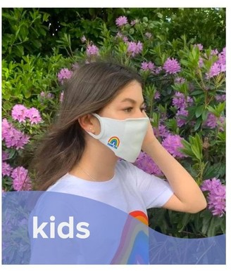 Little Mistress X Kindred Rainbow Thank You Nhs White Face Mask / Soft Touch For Kids -Pack of 3