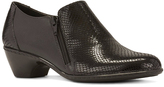 Walking Cradles Black Snake Cadence Leather Bootie