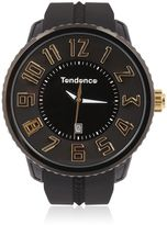 Tendence Round Gulliver Black & Yellow Watch
