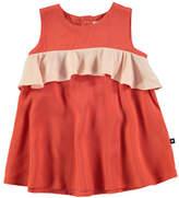 Molo Catja Burnt Sienna Sleeveless Dress w/ Contrast Ruffle, Size 6-24 Months