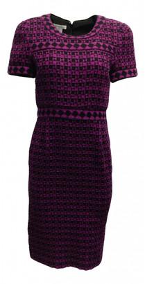 Oscar de la Renta Purple Wool Dresses