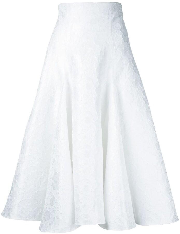 Bambah Snowflake midi skirt