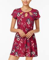 Trixxi Juniors' Cutout Fit & Flare Dress