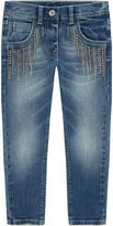 MonnaLisa Girl skinny fit jeans with rhinestones