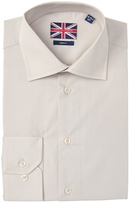 Soul Of London Solid Modern Fit Tall Dress Shirt