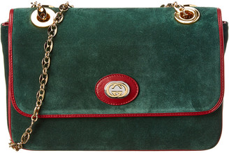 Gucci Marina Suede Shoulder Bag