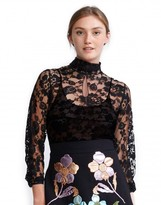 Cynthia Rowley High Neck Lace Top