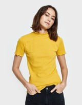 Which We Want Gwen Tee in Mustard