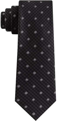 Tommy Hilfiger Men Small Snowflake Gingham Tie