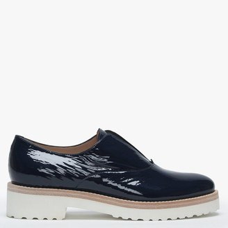 Luca Grossi Madaba Navy Patent Leather Loafers