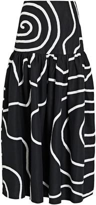 Mara Hoffman Linni Cotton-Linen Maxi Skirt