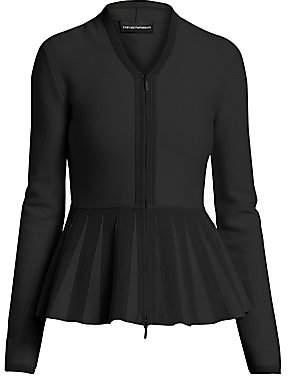 Emporio Armani Women's Peplum Zip-Front Jacket