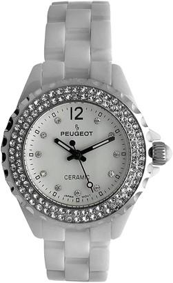 Peugeot Women's Crystal Ceramic Watch