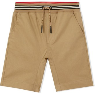 Burberry Honey Brown Cotton Twill Shorts