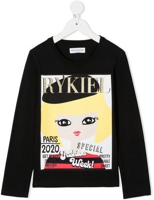 Sonia Rykiel Enfant magazine print longsleeved T-shirt