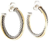 David Yurman Crossover Hoop Earrings