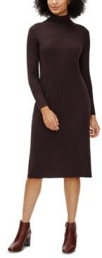 Eileen Fisher Straight Scrunch-Neck Dress