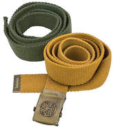 Timberland Olive Green & Gold Cotton Belt Set