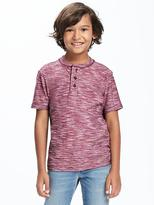 Old Navy Reverse-Slub-Knit Henley for Boys