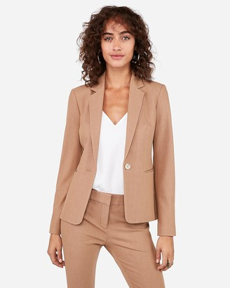 Express Textured Button Front Blazer