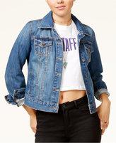 Bravado Justin Bieber Purpose Tour Juniors' Patched Denim Jacket