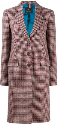 Paul Smith Houndstooth Single-Breasted Coat