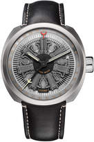 Tockr Watches Men's Radial C-47C Leather Watch, Gray