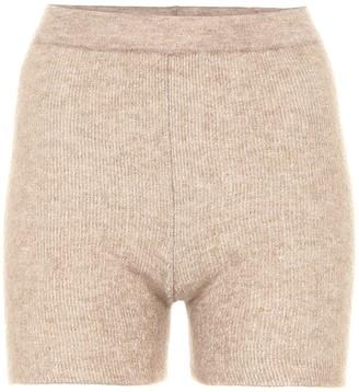 Jacquemus Le Short Arancia ribbed-knit shorts