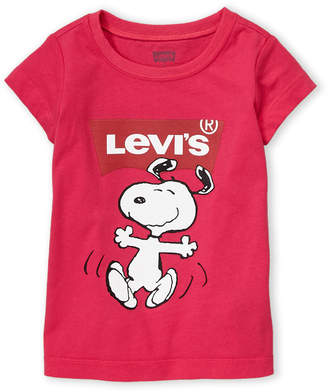 Levi's Toddler Girls) Short Sleeve Snoopy Batwing Tee