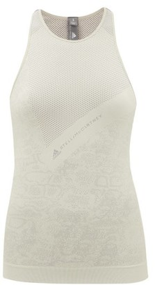 adidas by Stella McCartney Snake-jacquard Technical-knit Tank Top - Green