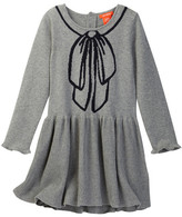 Joe Fresh Trompe L'O Bow Print Sweater Dress (Toddler & Little Girls)
