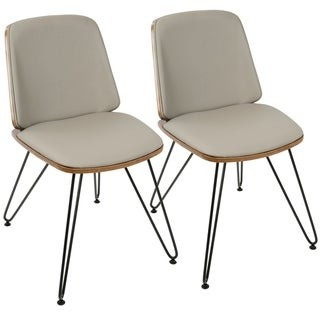 Lumisource Avery Mid-Century Modern Upholstered Accent / Dining Chair