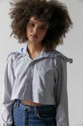 Urban Renewal Vintage Recycled Collared Cropped Shirt